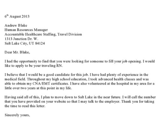 Cover letters for jobs out of state essayanthology for Cover letter for out of state job example